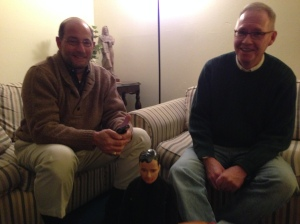 Fr. Kenny chillin' with the Bishop and Fr. John.